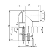 防水プラグ3PIEC規格形B(青)PI-2MM2