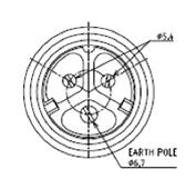 防水プラグ3PUSCG規格形A(BS)グランドサイズ#20