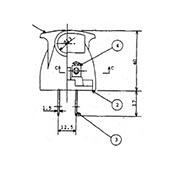 非防水プラグ2P アース無形B