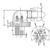 防水プラグ3P1-BM形(ABS) G=20