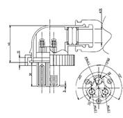 防水プラグ3P1-BM形(PBT) G=20