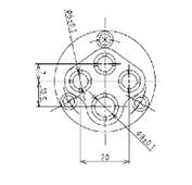 防水プラグ4P1-AM形(ABS)