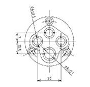 防水プラグ4P1-AM形(PBT)