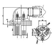 防水プラグ4P1-BM形(PBT)