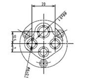 防水プラグ4P1-B形(BS)