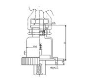 防水プラグ2P50A形(ABS)