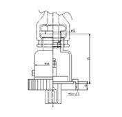 防水プラグ2P50A形(PBT)