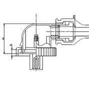 防水プラグ2P50形BM(ABS)