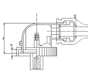 防水プラグ2P50形BM(PBT)