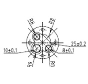 防水プラグ3P2-AM形(ABS)