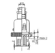 防水プラグ3P2-AM形(PBT)