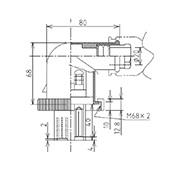防水プラグ3P2-BM形(ABS)