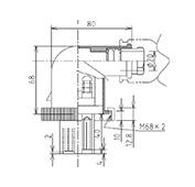 防水プラグ3P2-BM形(PBT)