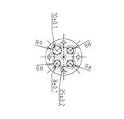 防水プラグ4P2-AM形(ABS)