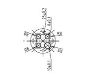 防水プラグ4P2-B形(ABS)
