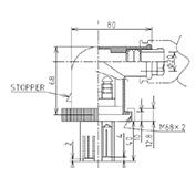 防水プラグ4P2-BM形(PBT)