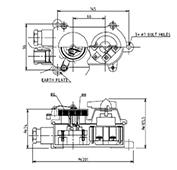 防水形3Pスイッチ付レセプタクルS2RM形図面